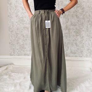 Pistola Button Front Maxi Skirt